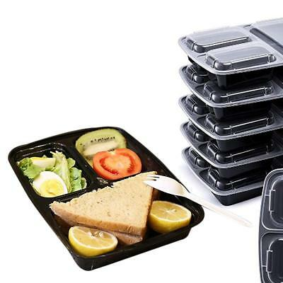 20X Meal Prep Plastic Food Storage Containers Freezer Microwavable Lunch Box