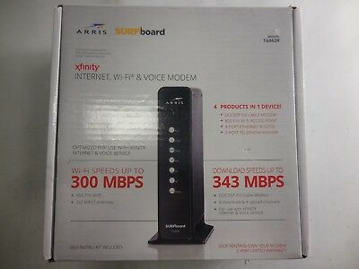 Arris TG862R Surfboard Docsis 8X4 Cable Modem Telephone N300 Router Xfinity