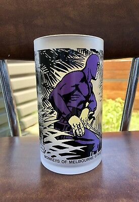 The Phantom | Frosted 1988 Monkeys of Melbourne | Collector Drinking Glass NICE