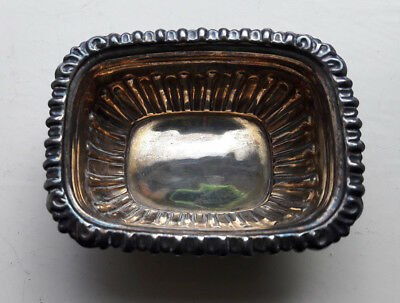 Antique Solid Silver Salt Dish Birminham 1901