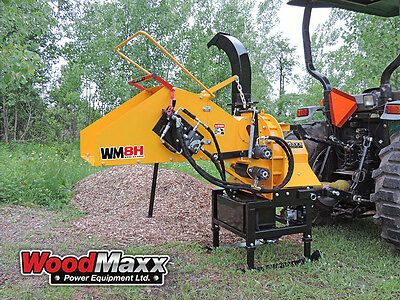 WOODMAXX  WM-8H PTO Wood Chipper w/Hydraulic In-Feed.