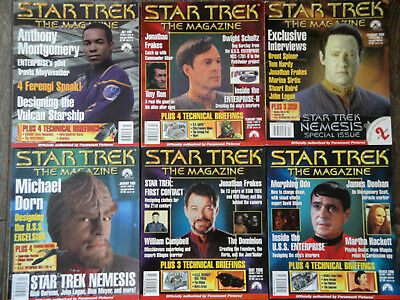 STAR TREK THE MAGAZINE Lot of 6 Issues 1999-2003 Fourth Lot