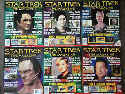 STAR TREK THE MAGAZINE Lot of 6 Issues 1999-2003 Fifth Lot