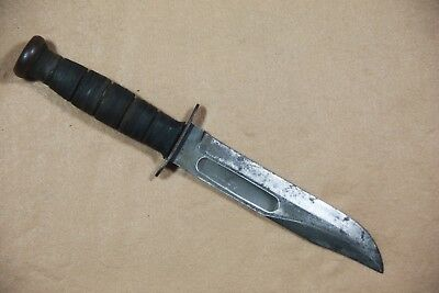 Original Wwii Usmc/usn Ka-Bar Fighting Knife