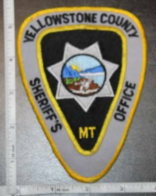 Yellowstone County Montana Sheriff's Police Department Shoulder Patch