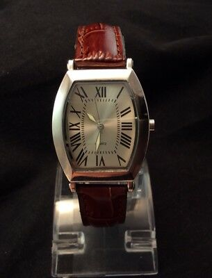 630a9b77050 Nice Vintage SKC Ladies Quartz Watch With Brown Leather Band New Battery  Works