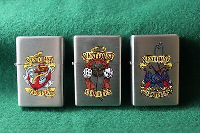 3 Unfired ~ West Coast Choppers ~ Lighters Dated 2007