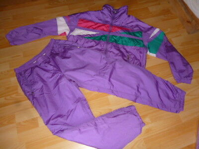 HEAD Oldschool Jogginganzug 52 L/XL Trainings Anzug vintage Tracksuit Glanznylon