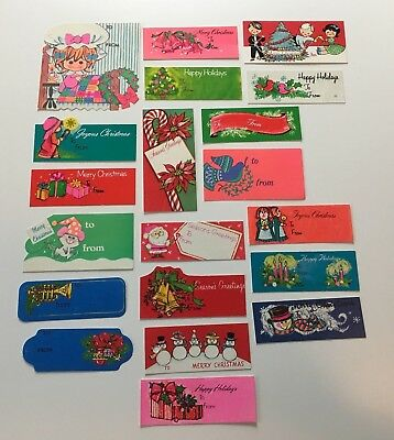 Vintage Christmas Gift Tags Lot of 20 Crafts Mixed Media Scrapbooking Holiday