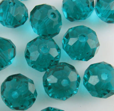 DIY Jewelry Faceted 70pcs 6*8mm Peacock green Crystal Faceted Loose Beads