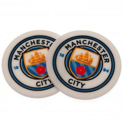 Manchester City FC Official Crested 2 Pack Coaster Set Present Gift 2PK