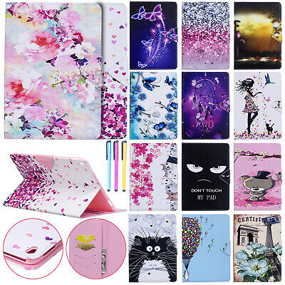 "Pattern Magnetic Leather Card Slot Case Cover For iPad 9.7"" 6th/5th/Pro 10.5/Air"