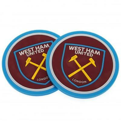 West Ham United FC Official Crested 2 Pack Coaster Set Present Gift 2PK