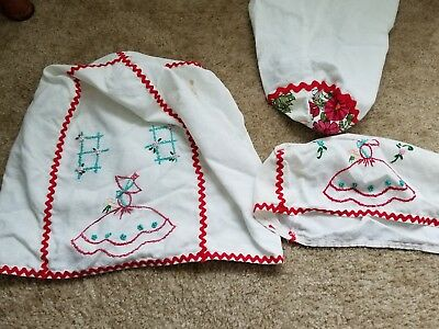 Vintage Handmade Embroidered Retro Cotton appliance covers