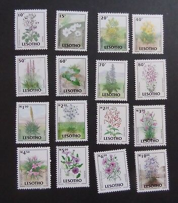 Lesotho 1985 98 Flowers SG1519/34 MNH UM Unmounted mint never hinged