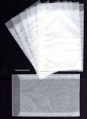LINDNER Protective GLASSINE ENVELOPES 95 x 132mm  - Brand New FREEPOST Ref:708