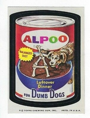 1974 Topps Wacky Packages 7th Series 7 ALPOO DOG FOOD nm o/c