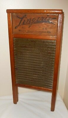 Vintage Lingerie WASHBOARD NO. 4A WHITE WOOD PRODUCTS CO. BOGALUSA L.A. 8.5x18.5