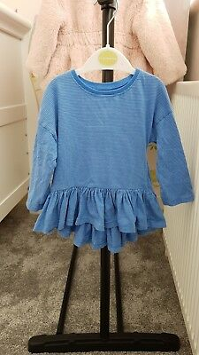 red and blue striped Next baby girl top, 12-18 months