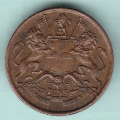 East India Company - 1835 - 1/12 Anna - Ex Rare Coin