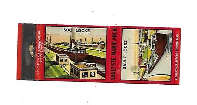 Soo Locks / Sault Locks   Matchcover   Sault  Ste. Marie, Michigan