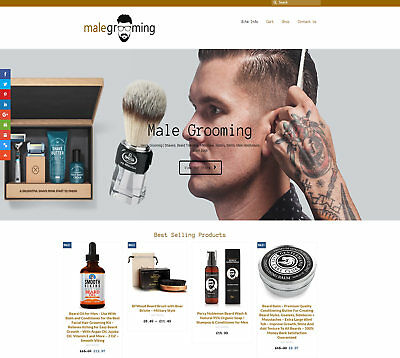 Fully Stocked MALE GROOMING business: FREE Domain/Hosting. Up to £59 per sale!