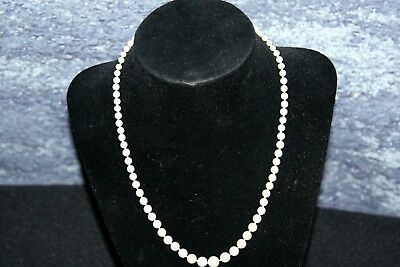 """Pearl Neckless 17"""" Long small to large pearls"""