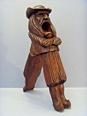 """ANTIQUE """"J.MARTIN & S.MALO"""" FRENCH CARVED TREEN NUT CRACKERS, c 1830-50."""