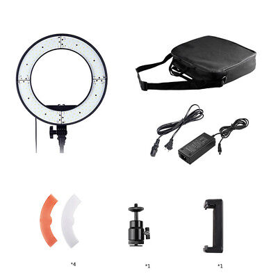 "18"" 240 LED Ring Light Dimmable 5500K Lighting Video Continuous Light Stand Kit"
