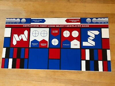 Atari ASTEROIDS Arcade Game Control Panel sticker