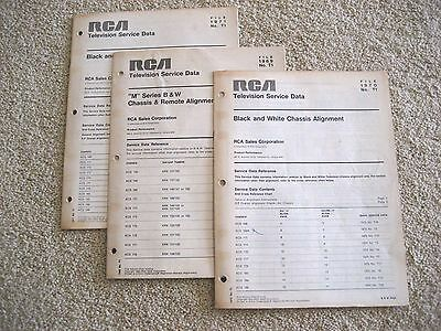 Rca Oem 1969-70 Tv Alignment Service Data M Series Kcs156/168/139/171/173/174
