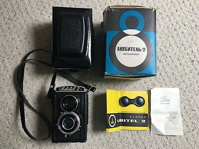 Lubitel 2 T22 TLR Vintage Camera 4.5/75 7847618 with accessories