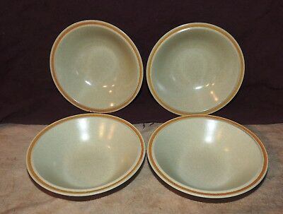 Set of 4  Hearthside Garden Festival Stoneware Coupe Cereal Soup Bowls