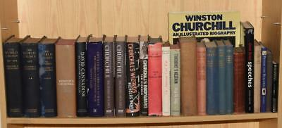 Collection of 25 Books by WINSTON CHURCHILL Second World War Biography 1899