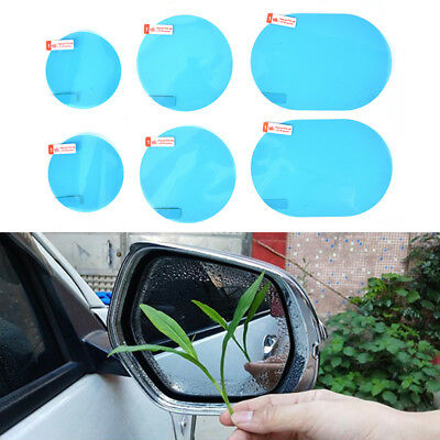2x Car motorcycle rearview mirror waterproof  anti-fog anti-glare film sticker