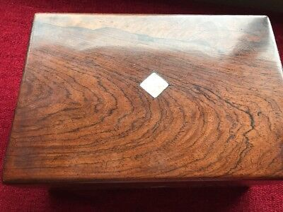 Vinage Wooden Writing Box. M.o.p. Leather Inside. Nice Box