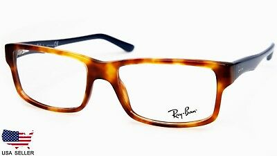 afd49bd1229 NEW Ray Ban RB5245 5609 HAVANA   NAVY EYEGLASSES GLASSES RB 5245 54-17-