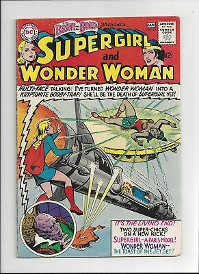 The Brave and the Bold #63 Supergirl and Wonder Woman 1966 Superman app. FN/VF