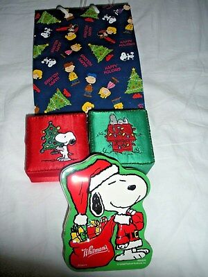 Peanuts/Snoopy ~ Ornaments, Tin, Gift Bag ~~ Christmas