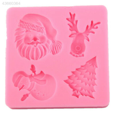 Silicone Christmas Santa Tree Snowman Fondant Cake Chocolate Mold Mould Tool