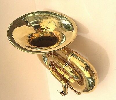 Antique Car Vintage Brass Triple Twist Horn 348 Blanchard & Co, Paris, France