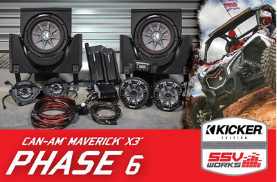 Can-Am Maverick X3/X3 Max complete Kicker 6 speaker Plug-and-Play system
