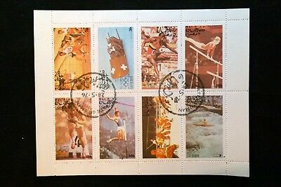 Oman Mini Sheet of 8 Stamps Olympic Sports