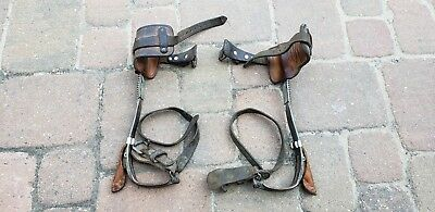Pair Vintage Mine Safety MSA-Brooks Climber Tree Climbing Gaffs
