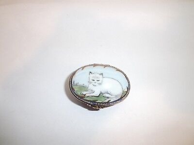 Peint Main Limoges Trinket-Cheshire Cat