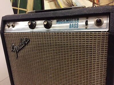 Vintage 1977 Fender Musicmaster Bass Amp Silver Face USA Amplifier