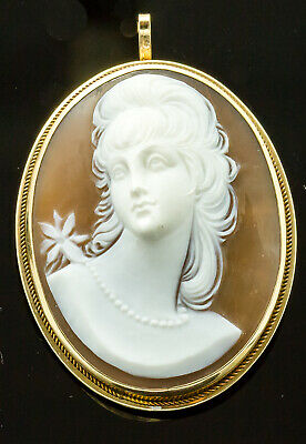 Vintage 14k Yellow Gold Shell Cameo