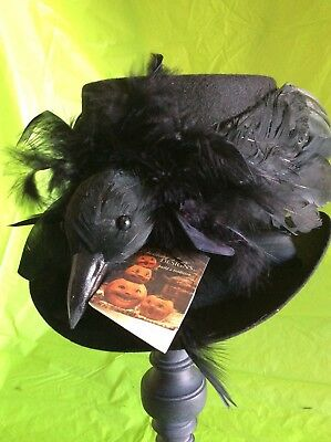 HAUNTED RAVEN TOP HAT by Bethany Lowe Designs
