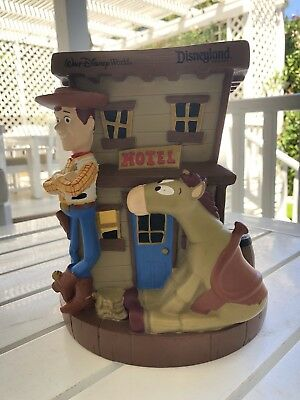 Disney Parks Pixar Toy Story Woody Jessie Bulls-Eye Piggy Bank Coin Bank Resin