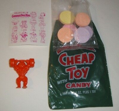 1986 GARBAGE PAIL KIDS Cheap Toys Toy - Brett Sweat Orange Rare - Pack Fresh!